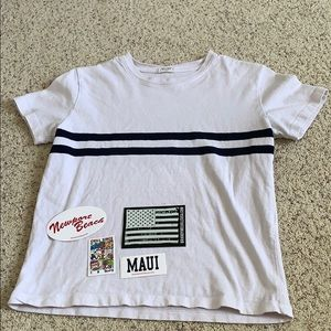Brandy Melville t-shirt with 4 large stickers